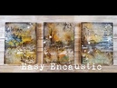 Easy encaustic mixed media abstract landscape for Donna Downey