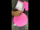 коробка круглая фуксия