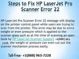 How to Fix HP Laserjet Pro Scanner Error 22 Toll Free +1888 963 7228