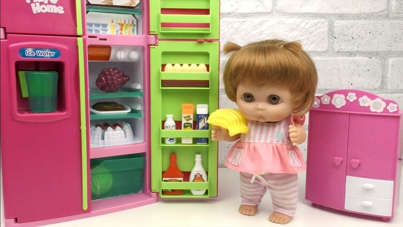Baby Doll REFRIGERATOR Food Toys Play / Kitchen Cooking / BabyLandToys