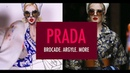 BROCADE PAINTING PRINT Prada Fashion Illustration Tutorial
