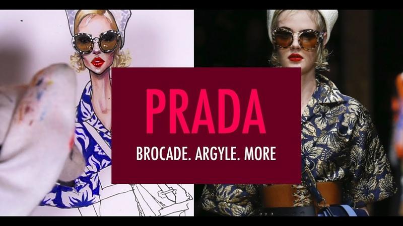 BROCADE. PAINTING PRINT. Prada | Fashion Illustration Tutorial