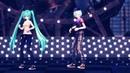 классный танец вокалоидов Мику Хатсуне и Кайто
