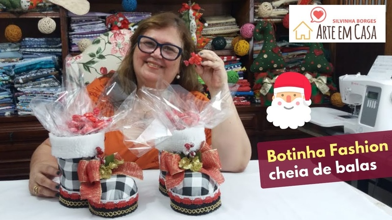 DIY A Bota do Papai Noel fashion e cheia de Balas