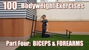 🇬🇧🔵100 BODYWEIGHT EXERCISES NO GYM REQUIRED BICEPS FOREARMS