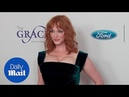 Gorgeous in Green! Christina Hendricks at Gracie Awards Gala