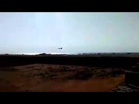 Libya FLAF Mig 23ML insane low pass (2) over the beach