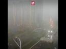 В Москву пришёл адок! Или Москва пришла туда. На улице темень, ливень стеной, гроза и кое-где сильный град.
