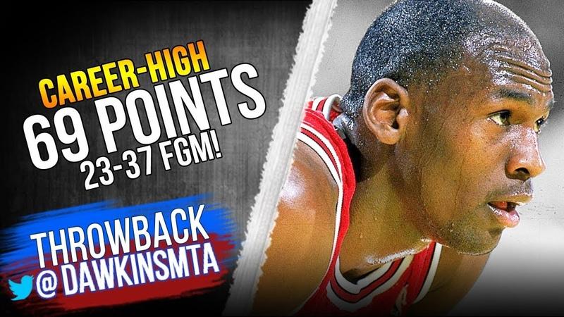 Michael Jordan UNREAL Career-HIGH 69 Pts, 18 Rebs vs Cavs - 23-37 FGM! | 60FPS | FreeDawkins