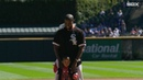Kanye and Saint West throw out the first pitch