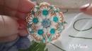 25 Tutorial ciondolo Valeriana con zoliduo perle roc mezzo cristalli e rivoli da 16mm