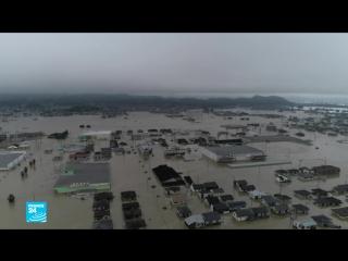 اليابان مقتل العشرات وإجلاء ملايين المواطنين جراء فيضانات عارمة