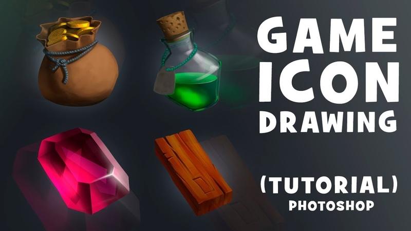 GAME ICONS DRAW | TUTORIAL | РИСУЕМ ИГРОВЫЕ ИКОНКИ | PHOTOSHOP