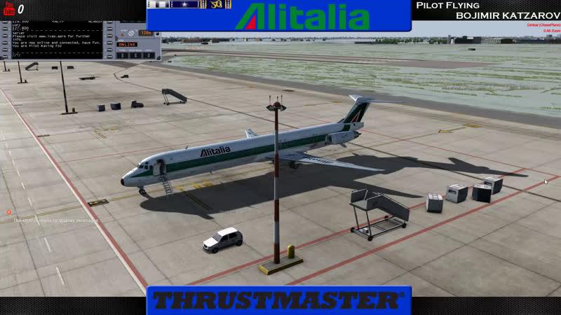 LIVE Prepar3D v4.2 Milan - Frankfurt |AlItalia |Airbus A320 |IVAO |353 nm