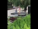 В Пятигорске женщины сушили одежду над вечным огнем
