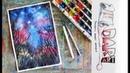 Как нарисовать ночное звездное небо акварелью Dari Art