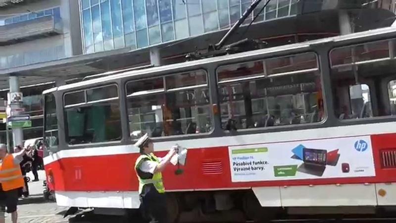 Praha Anděl provoz Tramvaj 4.květen.2015