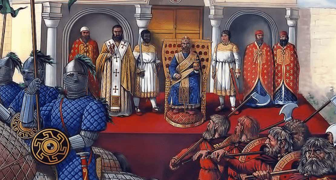 Войско перед императором
