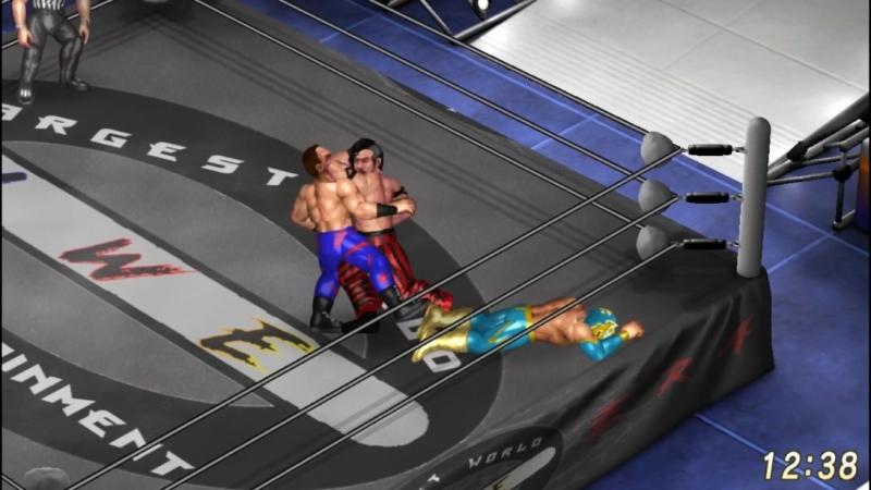 Chris Benoit VS Sin Cara VS Shinsuke Nakamura. Triple Threat Match