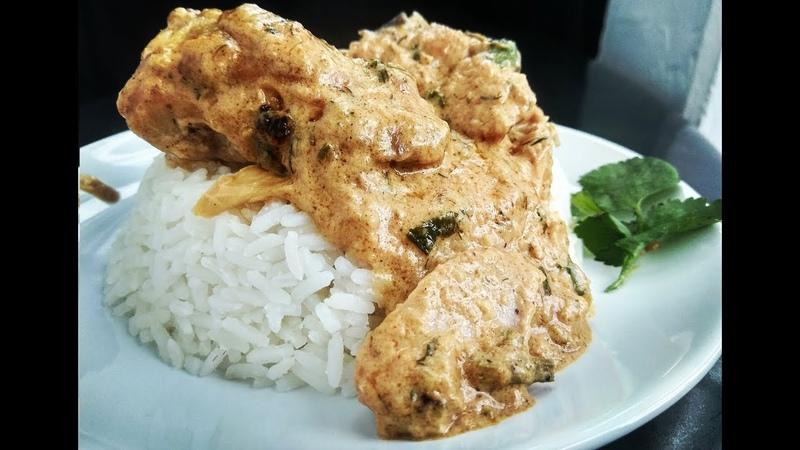 Гедлибже. Курица в сметане по-кабардински с рисом.