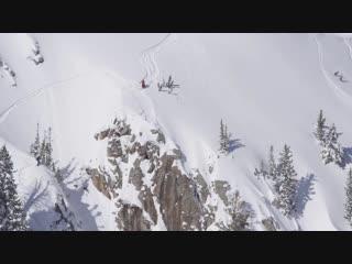 30-метровый дроп на лыжах