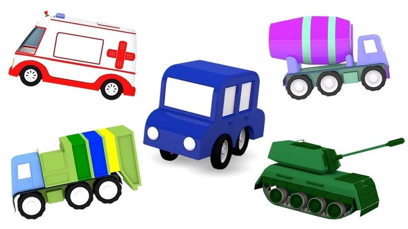 Creamos vehículos con 4 coches coloreados. Vídeos de juguetes infantiles.