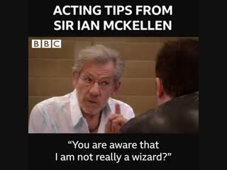 Acting tips from Ian McKellen