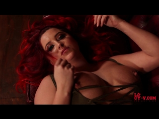 Lucy vixen collett strips from her bodysuit ( erotic эротика fetish фетиш big boobs score model chubby ass )