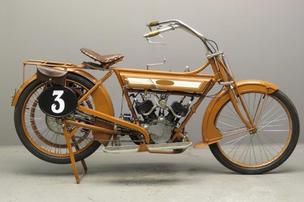 Старинный мотоцикл Motosacoche 1912