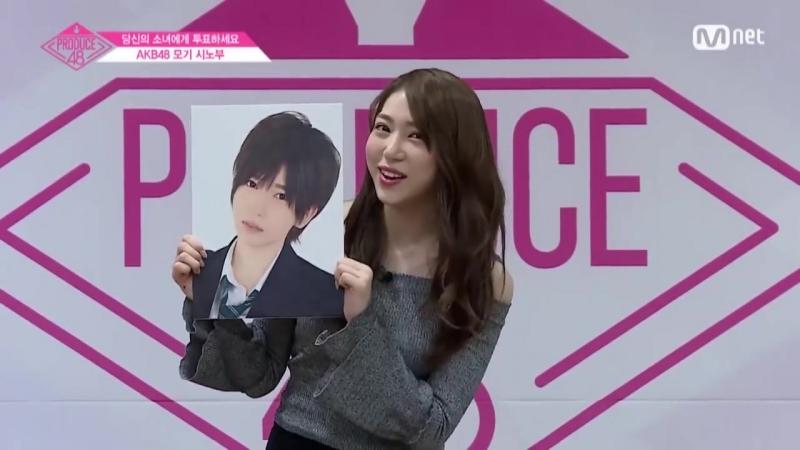 [ENG sub] PRODUCE48 AKB48ㅣ모기 시노부ㅣ당신의 마음을 모기모기! @자기소개_1분 PR 180615 EP.0