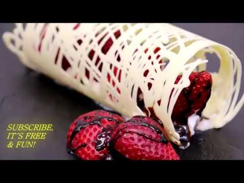 Красивая подача Десерта Белый шоколад и Клубника Ставим лайки от Дианы Шурыгиной