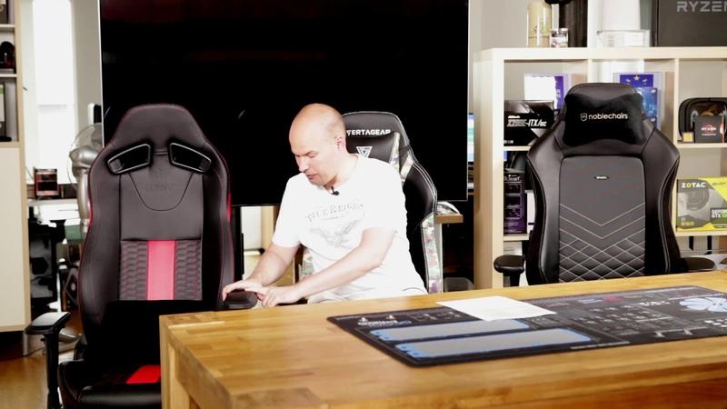 400 Euro Gaming Chairs im Vergleich Corsair Vertagear und Noblechairs