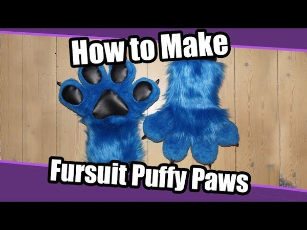 Tutorial 12 Puffy Hand Paws for Fursuits PDF Pattern