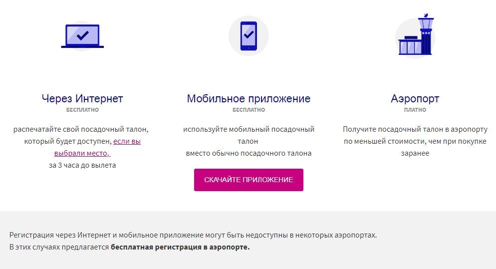 Инфографика: варианты регистрации на рейс Wizz Air (с тарифами)