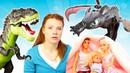 Spielspaß mit Barbie. Irene rettet Barbies Familie vor den Dinosauriern.