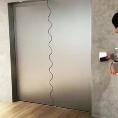 High-tech entrance to the apartment