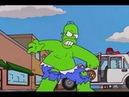 Homer Is The Incredible Hulk The Simpsons