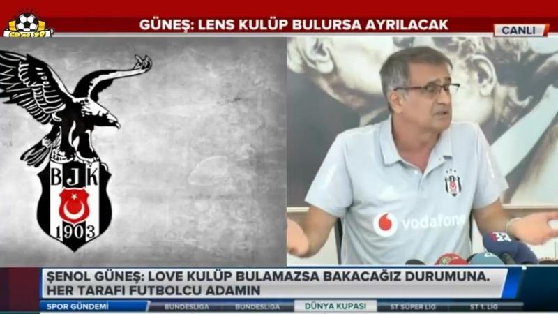 Beşiktaş Teknik Direktörü Şenol Güneş Basın Toplantısı 29 Haziran 2018