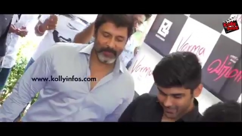 Varma Teaser launch - Chiyaan Vikram and Dhruv Vikram