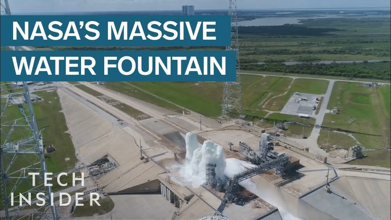NASAs 60 Second Test Blasts Half A Million Gallons Of Water Into The Air