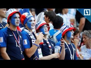 Матч Франция-Уругвай смотрят в Париже