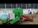 Automatic round baler corn silage baler machine baling and coating all-in-one