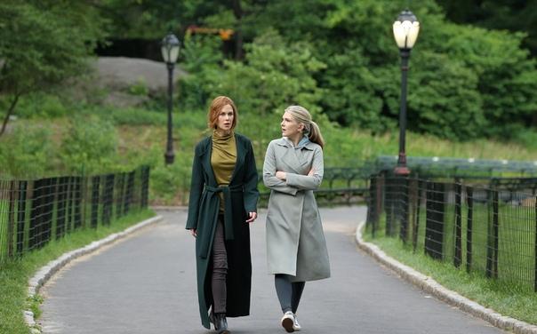Николь Кидман и Лили Рейб на съемках Хайди КлумКристен БеллКоби Смолдерс