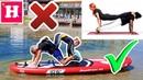 ЙОГА ЧеЛлЕнДж на ДОСКЕ для сёрфинга / Падение Николь / Экстримальный челлендж