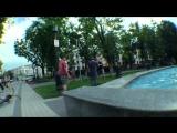 Быдло_нападает_на_велосипедистов_и_отгребает__драка_на_улице__защита_BMX