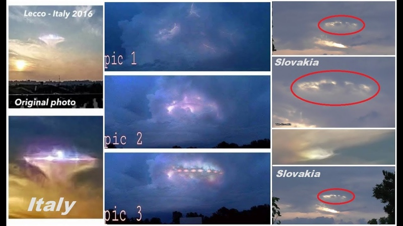 UFO camouflage PLEIADIAN UFO filmed in ITALY AND SLOVAKIA .
