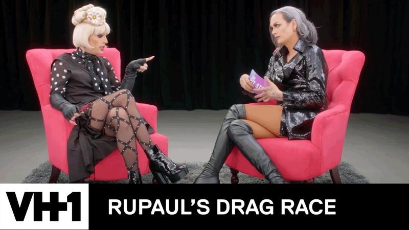 The Pit Stop w Raja Katya RuPaul's Drag Race Season 9 Ep 2 Logo Now on VH1