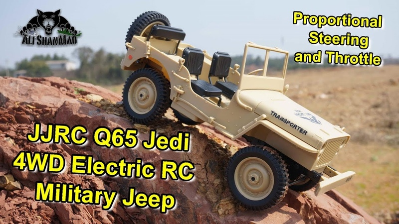 JJRC Q65 Jedi Electric 4WD RC Military Willy's Jeep