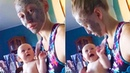 Try Not To Laugh Funny Babies Reaction to Mother's Facial Mask Funny Babies