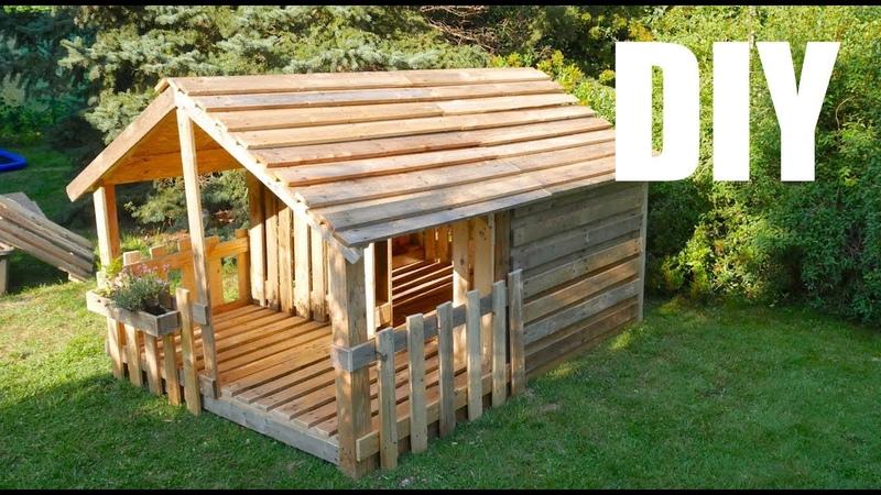 ★ Spielhaus Gartenhaus für Kinder ★ selber bauen aus Paletten Anleitung